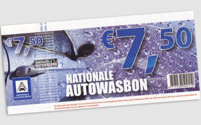 Nationale Autowasbon in Total Wash Kassa